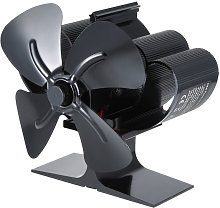 4-Blade Heat Powered Wood Stove Fan Mini Fireplace