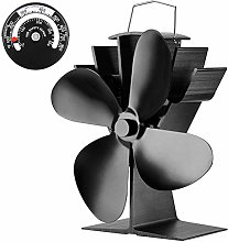 4 Blade Stove Fan, Anodized Aluminum-Circular