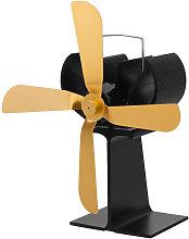 4 Blades Home Fireplace Fan Efficient Heat
