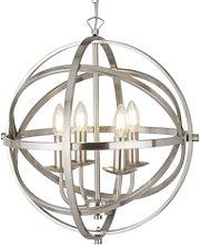 4 Candle Light Globe Chandelier - Orbit