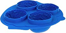 4 Cavities 3D Brain Flexible Silicone Ice Cube