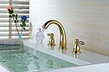 4 Colors Nordic Style Basin Faucet 3 Hole Bathroom