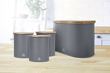 4 Container Food Storage Set Swan Colour: Grey