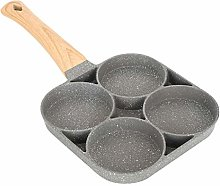 4-Cup Egg Frying Pan, Nonstick Aluminum Breakfast
