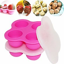 4 Cups Silicone Egg Bites Molds with Lid for