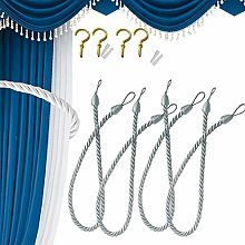 4 Curtain Ropes Tiebacks, Rope Tie Backs for