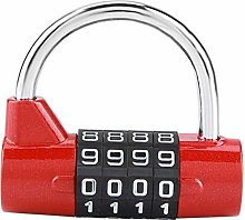 4 Dial Number Combination Padlock, Home Cabinet