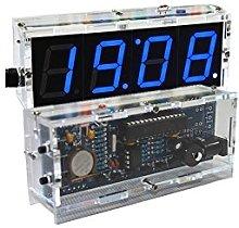 4-digit DIY Digital LED Clock Kit Light Control