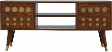 4 Drawer Chestnut Nordic Style Media Unit with