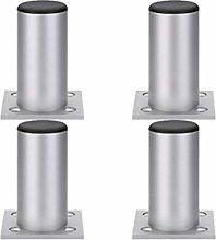 4 × Furniture Cabinet Legs, Adjustable Aluminum
