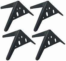 4 Furniture Feet Wrought Iron Table Metal Legs