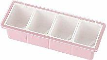 4 Grid Seasoning Box Set, Plastic Kitchen