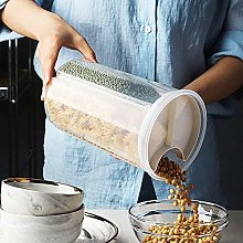 4 Grids Tall Cereal Dispenser Rotating Dry Food