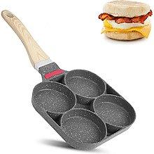 4 Hole Pancake Pan, Frying Pan Non-Stick Fried Egg