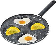 4 Holes Egg Frying Pan, Round/Heart Shaped Egg