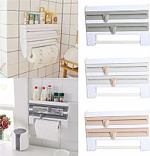 4 in 1 Kitchen Roll Holder Dispensers, Wall Mount