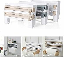 4 in 1 Paper Towels Wall Mounted Rolls Holder Tin