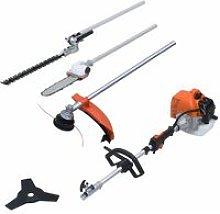 4-in-1 Petrol Garden Multi-tool Set with 52 cc