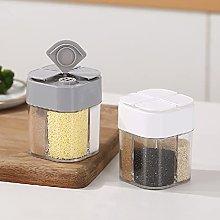 4 in 1 Plastic Salt Pepper Shaker- 4 Grids Flip