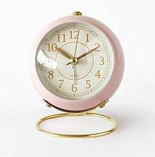 4 Inch Analog Alarm Clock Small Silent Table Clock