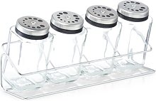 4 Jar Free Standing Spice Rack Zeller