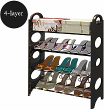 4-Layer Shoe Rack Plastic Metal Combined Shoe Rack