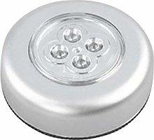 4 LED Control Night Light Round Lamp Under Cabinet