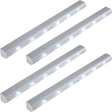 4 LED light strips with motion detector - grey