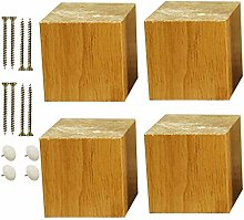4 Legs for Solid Wood Furniture, Legs for Square