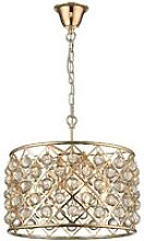 4 Light Small Ceiling Pendant Gold, Clear with
