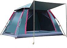 4 Man Tent Dark Green Blue With Porch Waterproof