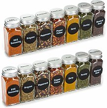 4 ounce , best value 14 glass spice jars includes