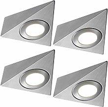 4 Pack | *240V Mains* LED Triangle Under Cabinet