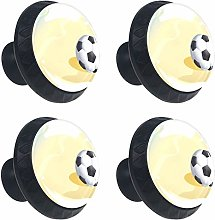 4 Pack 30mm Cabinet Knobs Beach Sand with Football