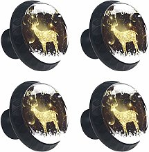 4 Pack 30mm Cabinet Knobs Christmas Background