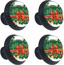 4 Pack 30mm Cabinet Knobs Christmas Balls Present