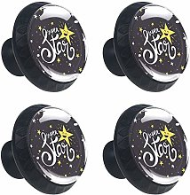 4 Pack 30mm Cabinet Knobs Creative Dark Star with