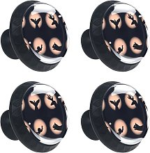 4 Pack 30mm Cabinet Knobs Shadow Puppet Hand Pull
