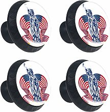 4 Pack 30mm Cabinet Knobs Statue of Liberty with
