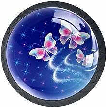 4 Pack 35MM Cabinet Knobs Butterflies with
