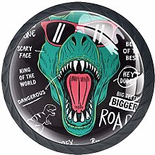 4 Pack 35MM Cabinet Knobs Dinosaur with Cool