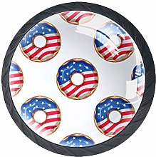 4 Pack 35MM Cabinet Knobs Donut with The American