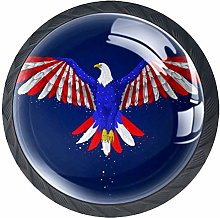 4 Pack 35MM Cabinet Knobs Eagle with American