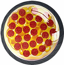4 Pack 35MM Cabinet Knobs Pizza with Pepperoni