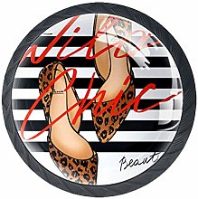 4 Pack 35MM Cabinet Knobs Slogan with High Heel