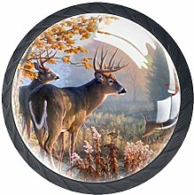 4 Pack 35MM Cabinet Knobs Sunset with Deer