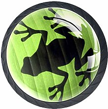 4 Pack 35MM Cabinet Knobs Tree Frog Shadow, Round