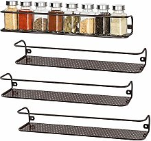 4 Pack Big Size Wall Mount Tier Spice Rack Nail