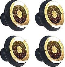4 Pack Black Cabinet Hardware Retro Gun Target