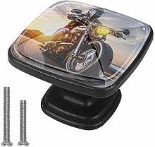 4 Pack Black Cabinet Hardware Sunset Motorcycle